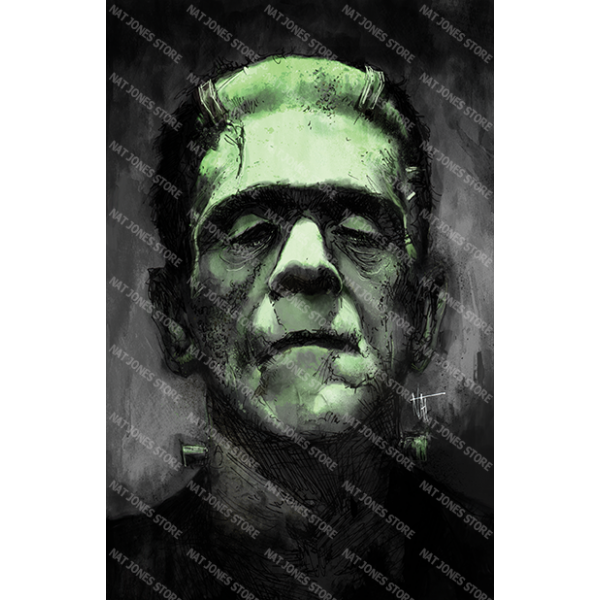 Nat Jones Frankenstein Art Print